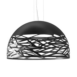 Design hanglamp Kelly Dome 80cm zwart