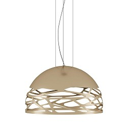 Design hanglamp Kelly rond champagne 50 cm