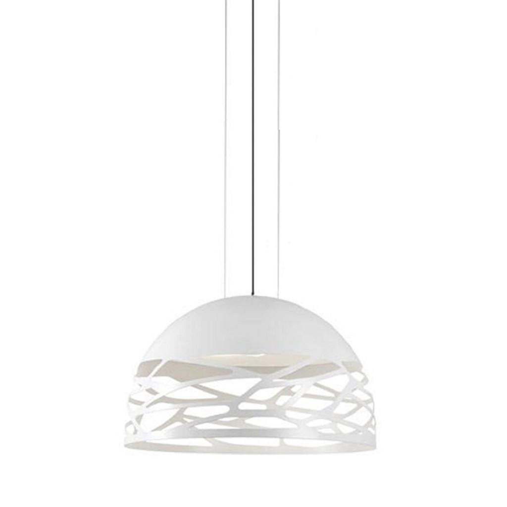 Hanglamp koepel wit 60cm 3xe27