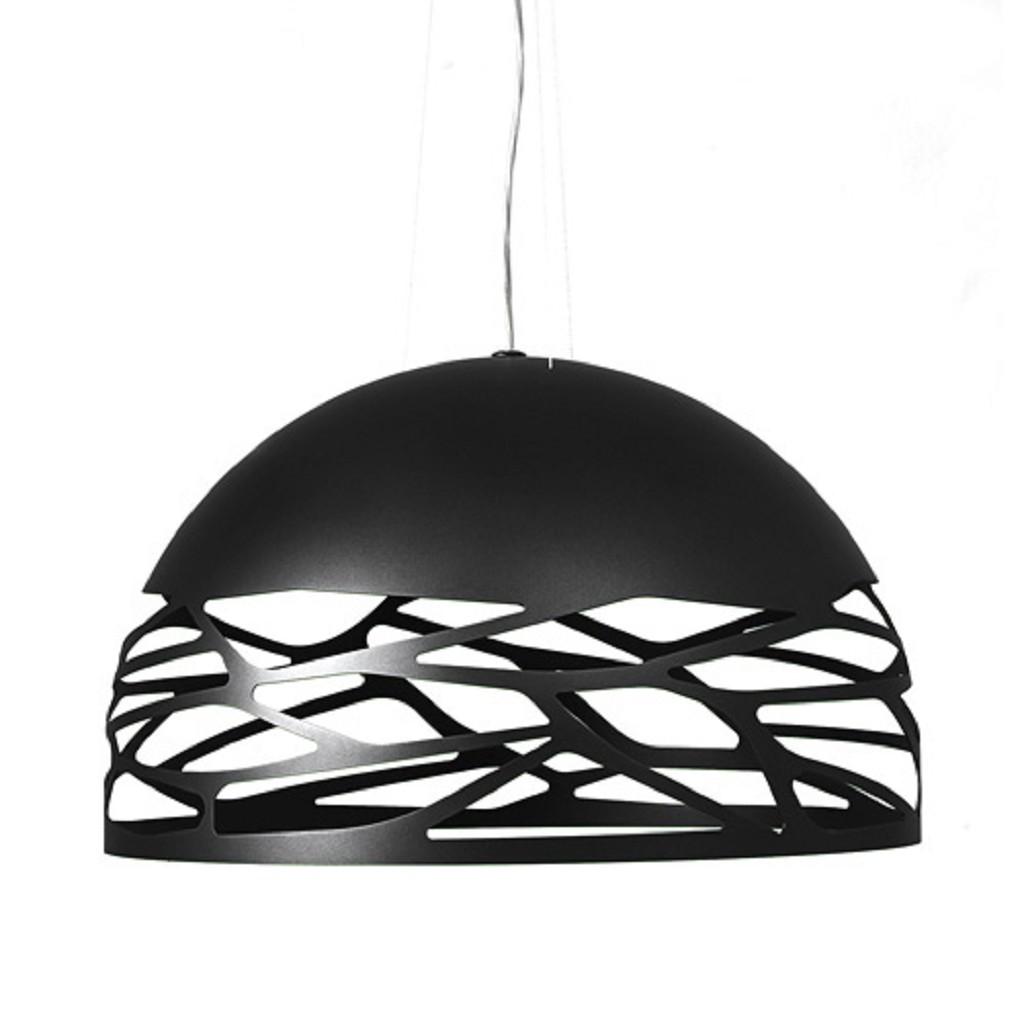 **Design hanglamp Kelly Dome zwart 60cm
