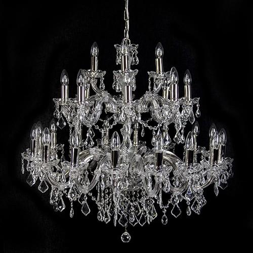 *Grote kroonluchter glas en kristal 28L