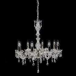 Kristallen kroonluchter 8-lichts & glas