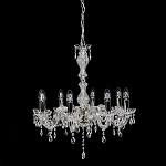 *Kristallen kroonluchter 8-lichts & glas