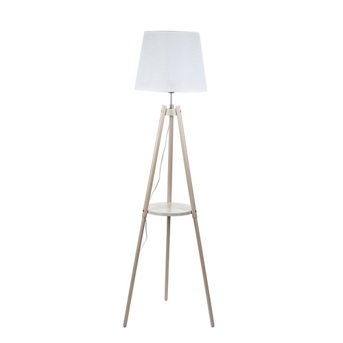 Driepoot vloerlamp met kap - tafelblad