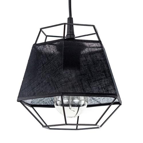 Kleine hanglamp draad zwart met stof