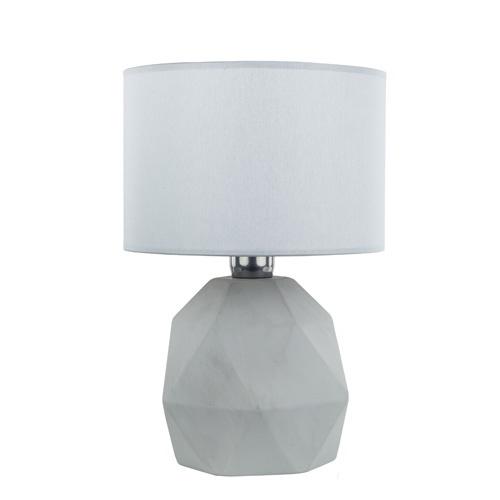 Grijze tafellamp-schemerlamp steen