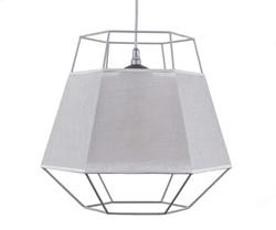 Grijze hanglamp draad met rand van stof