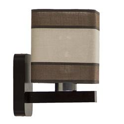 Bruine wandlamp hout met kap