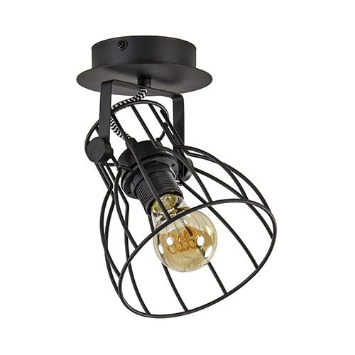 Zwarte plafondlamp-spot industrie draad
