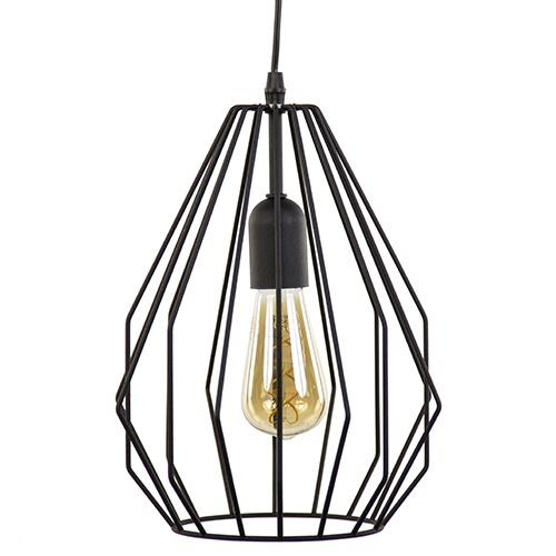Hanglamp draad mat zwart