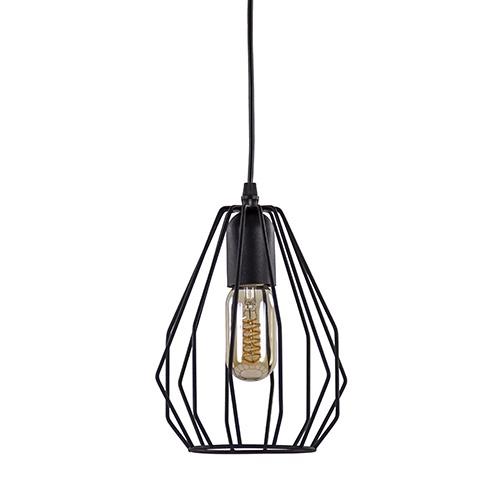*Hanglamp draad zwart klein