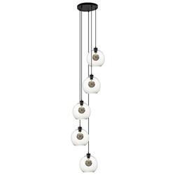 Luxe vide hanglamp glas helder