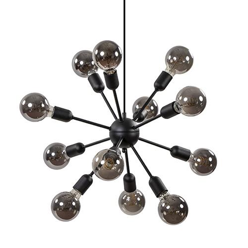 12-Lichts hanglamp 'Spoetnik' zwart excl. lichtbron
