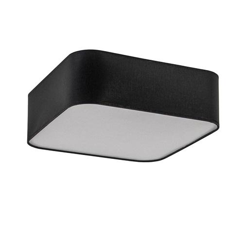 Moderne plafondlamp zwart vierkant