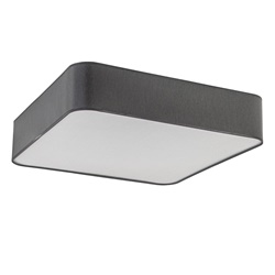 Moderne plafondlamp vierkant grijs groot
