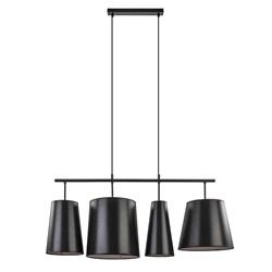 4-L Hanglamp met zwarte kappen