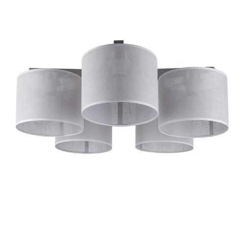 slaapkamer plafondlamp met 5 kappen stof straluma