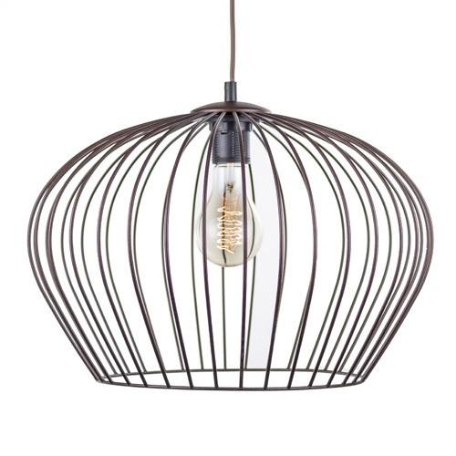 Landelijk draad hanglamp bruin eettafel