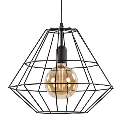 *Hanglamp Diamond groot zwart