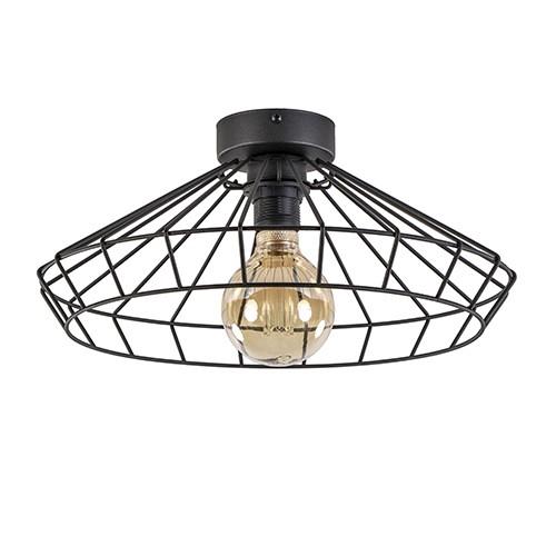 Draad plafondlamp zwart hal, keuken
