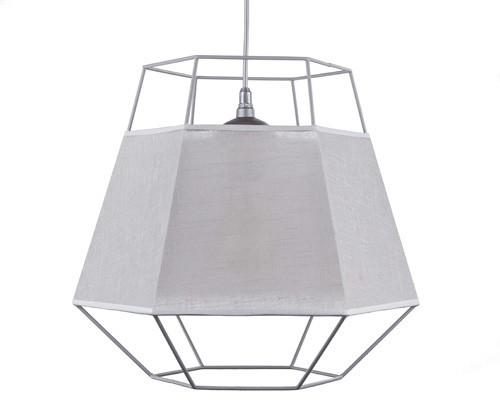 *Grijze hanglamp draad met rand van stof