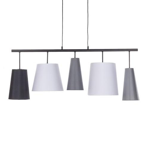 *Hanglamp diverse  kappen zwart-grijs