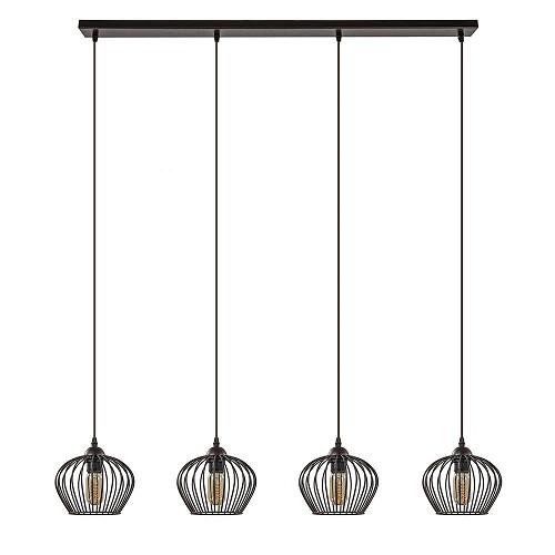 Landelijke hanglamp Tina 4-lichts