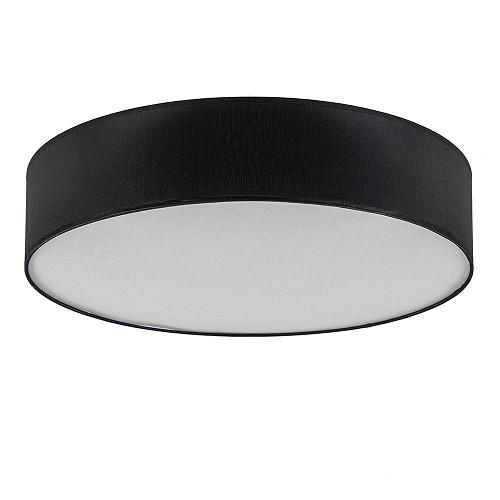 Moderne kunststof plafondlamp zwart 60cm