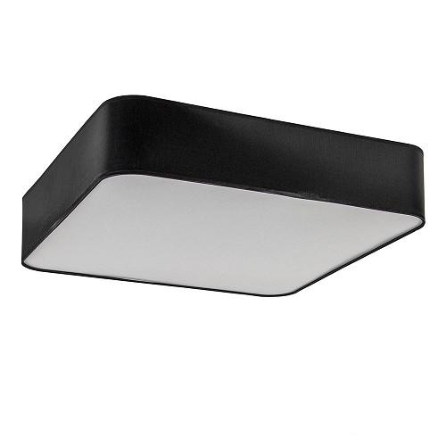 Grote plafondlamp vierkant zwart 60 cm