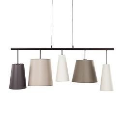 Eettafel hanglamp verschillende kappen