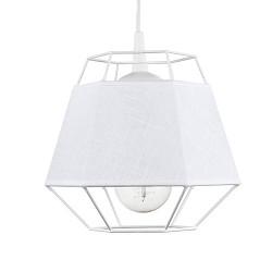Witte draad hanglamp met ingebouwde kap