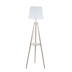 *Driepoot vloerlamp met kap - tafelblad