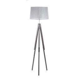 *Landelijke driepoot lamp hout en kap