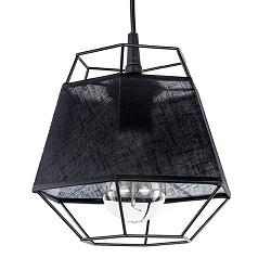 *Kleine hanglamp draad zwart met stof