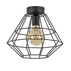 Draad plafondlamp zwart hal, wc, keuken