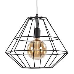 Scandinavische hanglamp diamond zwart XL