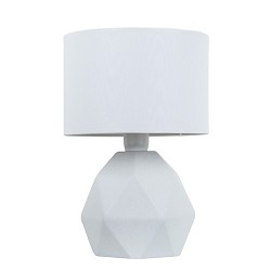 Stenen vaaslamp-schemerlamp wit