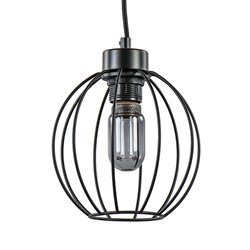 Kleine zwarte draad hanglamp bol hal-wc