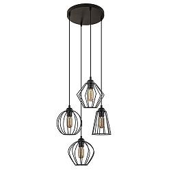 Draad hanglamp zwart hoogte verschillend