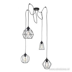 Draad hanglamp verschillende hoogtes
