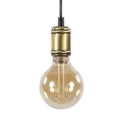 ** Landelijke pendel hanglamp brons