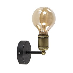 **Landelijke wandlamp antiek brons-zwart