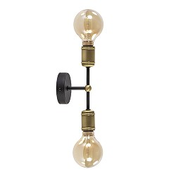 *Klassieke wandlamp zwart-antiek brons