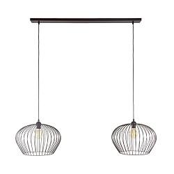 Landelijk-klassieke hanglamp draad bruin