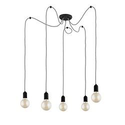 *Hangpendel spin 5-lichts zwart