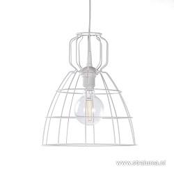 Kleine witte industriele draad hanglamp