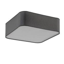 Vierkante plafondlamp hal/keuken grijs