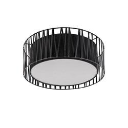 Grote zwarte plafondlamp met sierrand