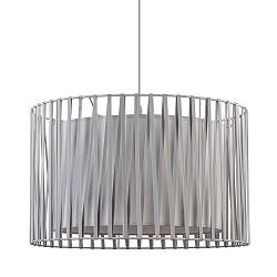 Grijze hanglamp met dubbele kap modern