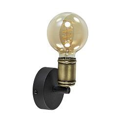 Verstelbare wand/plafondlamp zwart brons excl. lichtbron